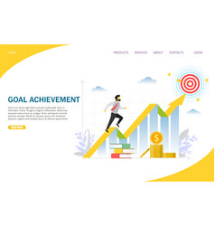 goal achievement website landing page vector image