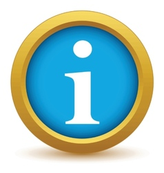 Gold info icon vector image