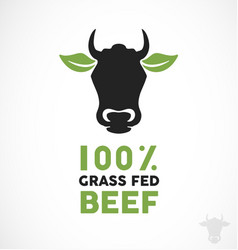 grass fed beef vector image