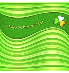Green Patricks Day abstract background card vector image