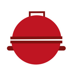 grill silhouette isolated icon vector image