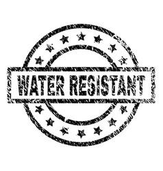Grunge textured water resistant stamp seal vector