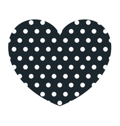 Hand drawing dark blue heart shape decorative with vector