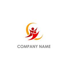 happy people active logo vector image