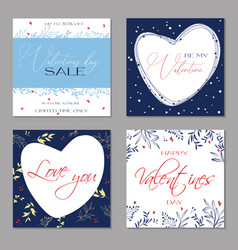 happy valentines day greeting cards trendy vector image