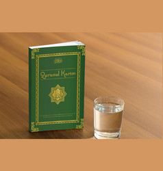 holy book quranul karim cover page design vector image