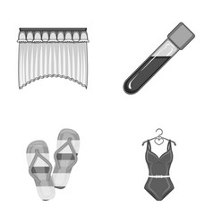 House sport and other monochrome icon in cartoon vector