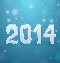 Ice New Year background 2014 vector