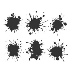 Ink spots set bloat collection in vector