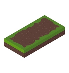 Isometric ground vector image