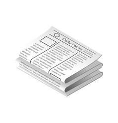 isometric newspaper vector image
