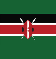 Kenya flag for independence day and infographic vector