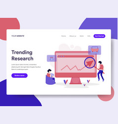 Landing page template of trending keyword vector
