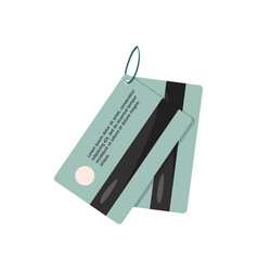 Magnetic security lock for doors hotel key card vector