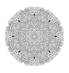 mandala eastern pattern zentangl round coloring vector image vector image