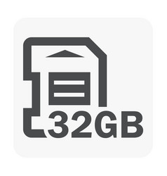 Memory card icon vector