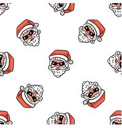 minimalistic christmas pattern santa claus vector image