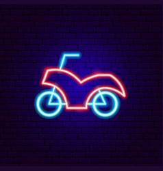 Motorcycle neon sign vector
