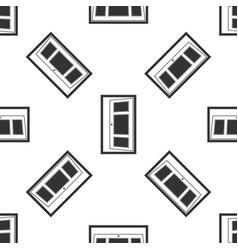 open door icon seamless pattern vector image