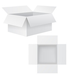 open white box mockup vector image