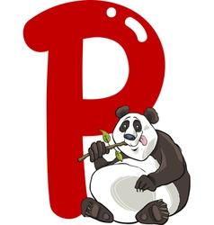 P for panda vector image