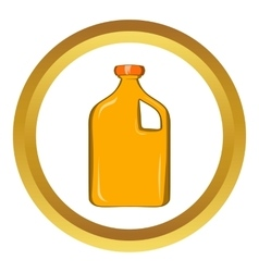 Packaging for engine oil icon vector