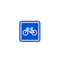 parking bicycle roadsigns isolated vector image