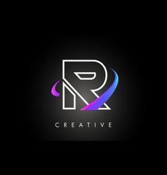 r trendy modern letter logo design monogram and vector image