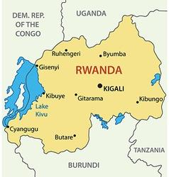 Republic of Rwanda - map vector image