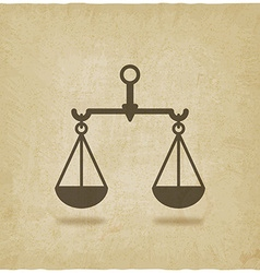 scales justice symbol old background vector image