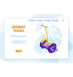 segway tours landing page template vector image