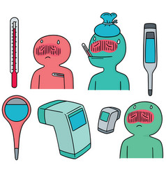 set of thermometer vector image
