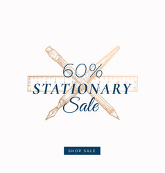 sixty percent stationary autumn sale abstract vector image