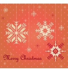 Snowflakes card vector image