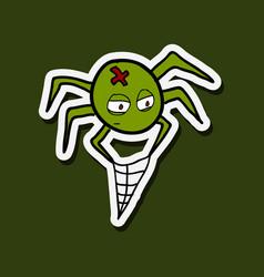Spider isolated web halloween vector