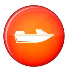 Sports powerboat icon flat style vector
