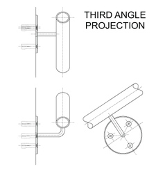 Third Angle Projection vector image