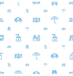 Tourist icons pattern seamless white background vector