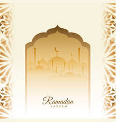 Traditional ramadan kareem festival card with vector