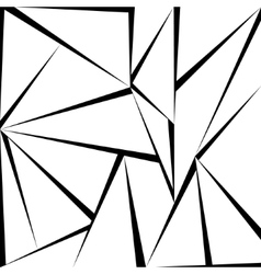 Triangle greyscale pattern vector image