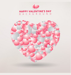 valentines day and decorative heart background vector image