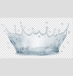 water crown splash of water transparency only in vector image