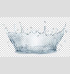 Water crown splash water transparency only in vector