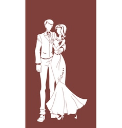 Wedding couple background vector