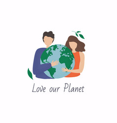 World environment day poster love our planet card vector