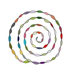 Colorful spiral pattern sketch for your design vector image vector image