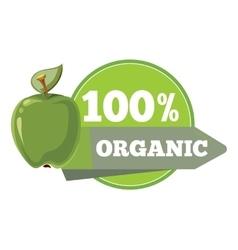 Natural organic fruits logo label badge template vector image vector image