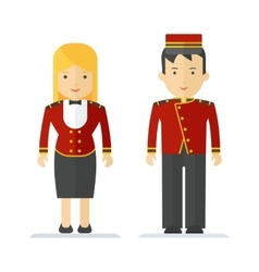 profession hotel service man and woman vector image