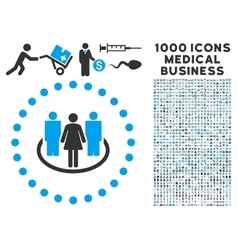 Society Icon with 1000 Medical Business Symbols vector image vector image