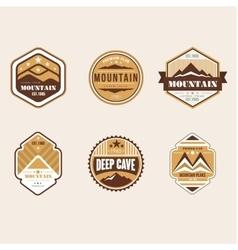 Vintage outdoor camp badges and logo emblems vector